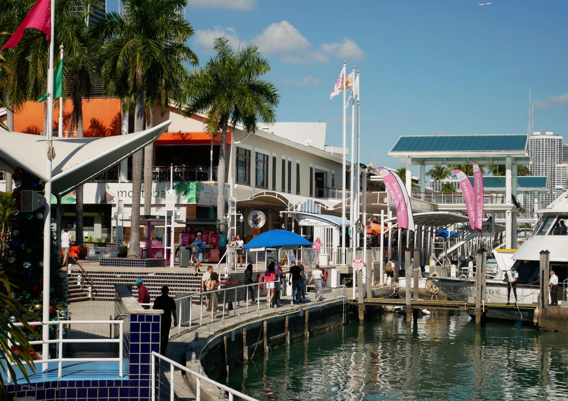 マイアミのベイサイドマーケットプレイス